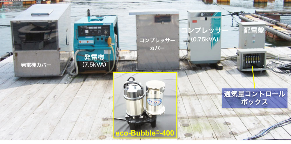 eco-Bubble® aeration system for fish farming
